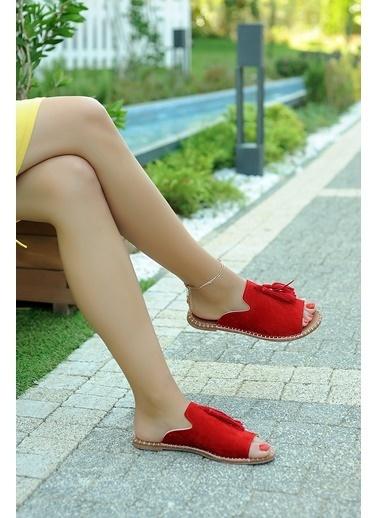 Pembe Potin A888-19 Kadın Terlik A888-19 Kırmızı
